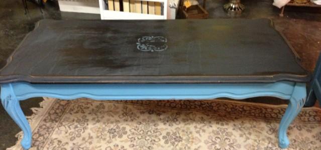 Black & blue coffee table