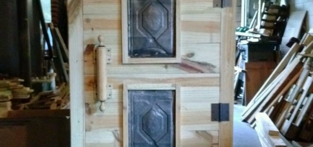 Primitive Wood Cabinet Pie safe