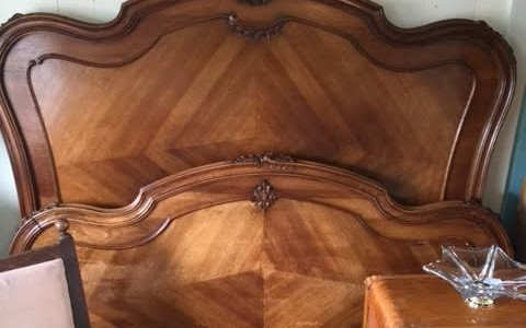 Bed King Louis XV Antique