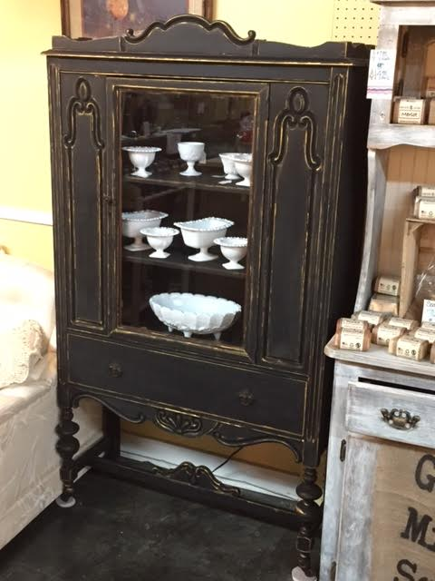 - Repurposed Shabby Chic China Cabinet Antique