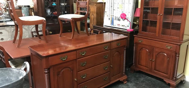 Mid CenturyModern Willett Cherry Dining Buffet Sideboard China Hutch