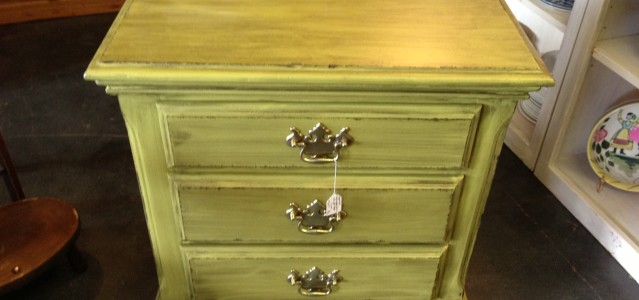 Distressed Green Chest