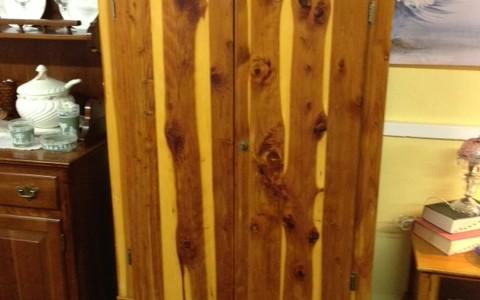 Cedar wood wardrobe armoire