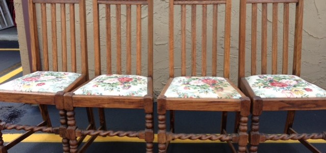 Oak Dining Chairs Table