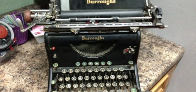 Book typewriter old novel