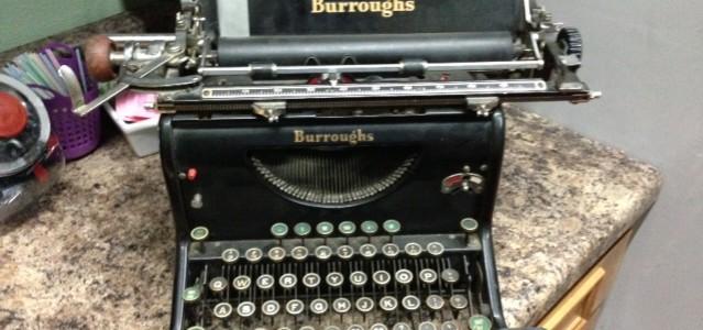 Book typewriter old novel