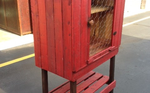 Primitive, Wood, Pie Safe, Farmhouse, Cabinet, Wood