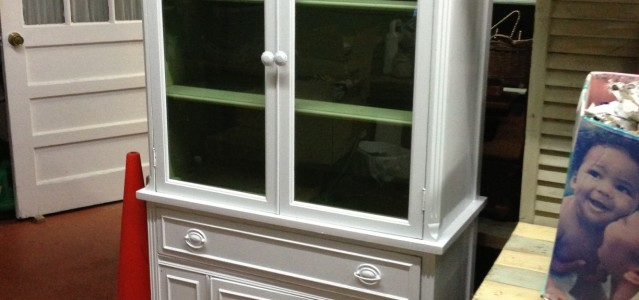 China Cabinet Hutch Mahogany