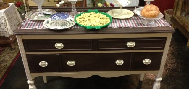 Server Sideboard Buffet Pedestal