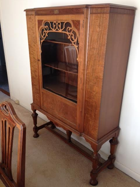China Hutch Cabinet Vintage Wood