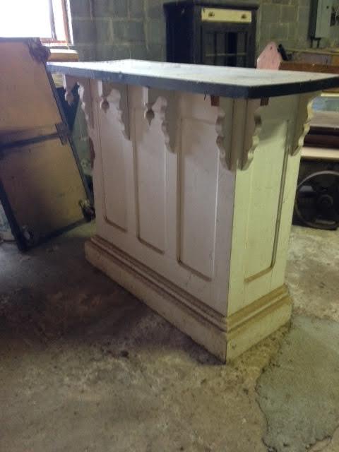 Primitive Wood Pulpit Bar Kitchen Island
