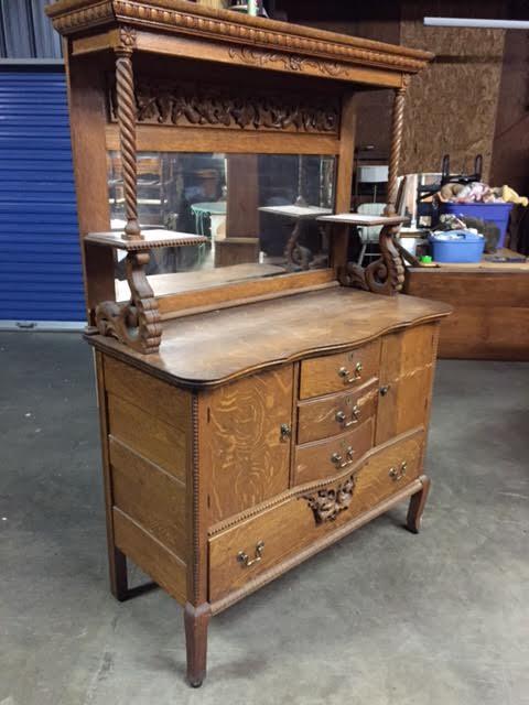 antique tiger oak buffet Antique Tiger Oak Quarter Sawn Oak Buffet/Sideboard!!!!!! antique tiger oak buffet
