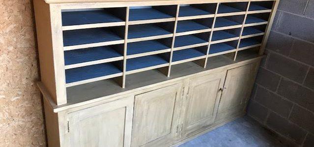 Cabinet storage Post Office cubbies