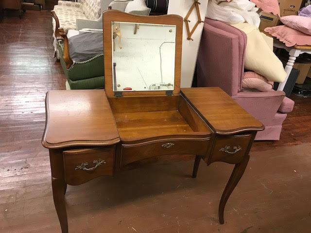 Kindel Vanity Makeup Mirror Cherry Vintage Antique
