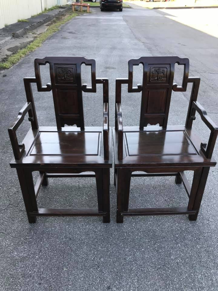 Qing Ming Dynasty Elm Chair Official Sidechair